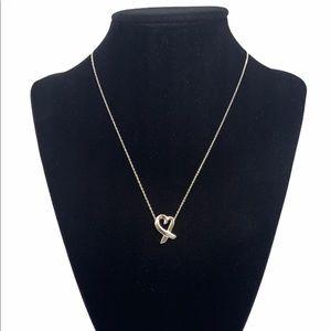 """Tiffany & Co. Loving Heart Pendant Necklace 16"""""""